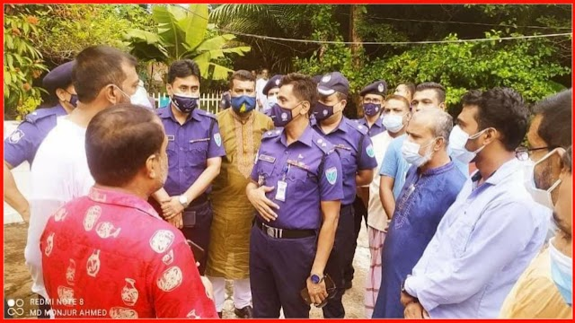 গোলাপগঞ্জের ঢাকাদক্ষিণে ডাকাতির ঘটনাস্থল পরিদর্শন করেছেন এসপি ফরিদ উদ্দিন