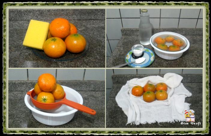 Higienizando frutas