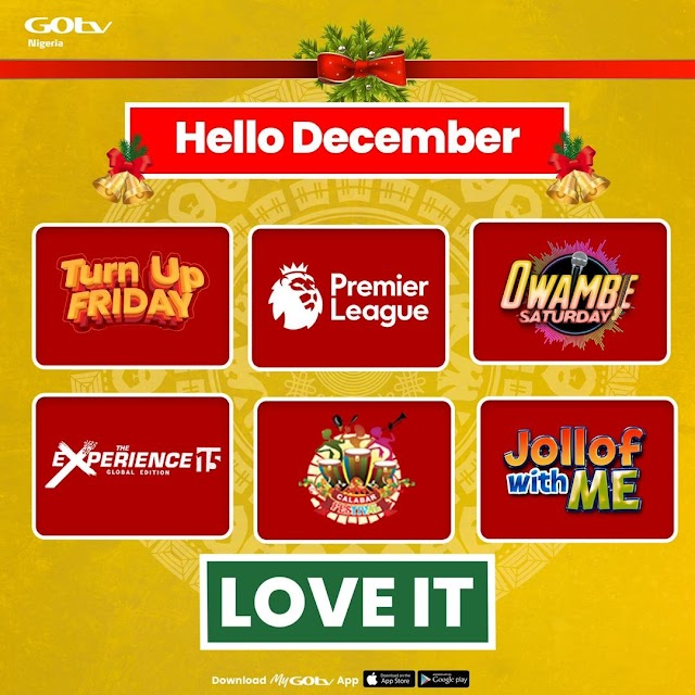 Five Exciting Local Shows You Must Watch this December on GOtv ~Omonaijablog