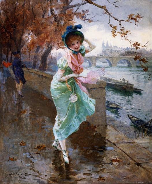 Daniel Hernández Morillo - Elegant Lady on the Quay of Paris