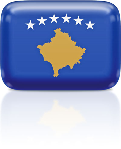 Kosovar flag clipart rectangular
