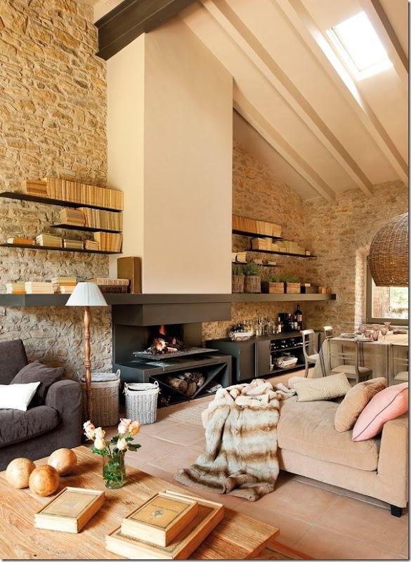 Rilassante casa in campagna da un ex fienile case e for Ristrutturare casa campagna