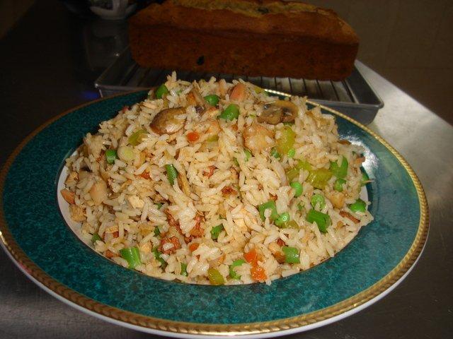 El arroz que no engorda - plato vegetariano
