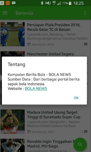 Bola News - Kumpulan Berita Bola 2.0 screenshots 3