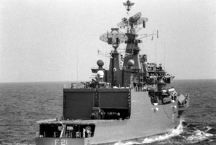 INS Gomati - F21 - Missile Frigate - Indian Navy - 01-TN