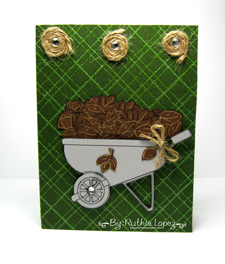 The Cutting Cafe - Greeting Card with a gift card holder - Wheelbarrow deliveries - Card - Ruthie Lopez