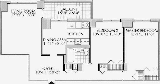 Co op City or coopcity apartment or rental units 2 bedroom floor plans for different size apartment rentals