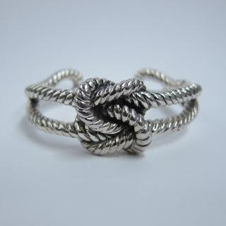 Sterilng Silver Knot Cuff