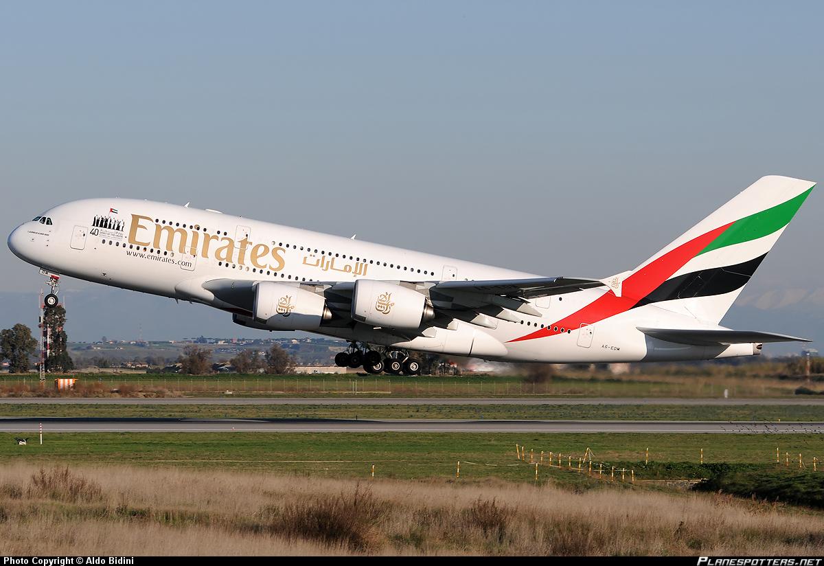 Flightmode emirates ek58 a380 near dubai engine shut down in flight - Emirates airlines paris office ...