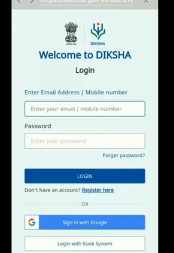Video on how to login to Deeksha Mobile app