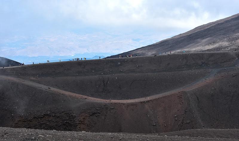 sul bordo del cratere di MWALTER