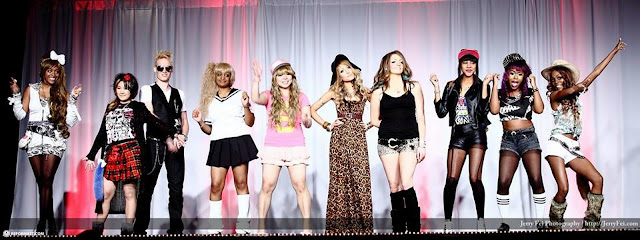 our canada gyaru group at the anime north 2013 fashion show in Mississauga, Ontario, Canada