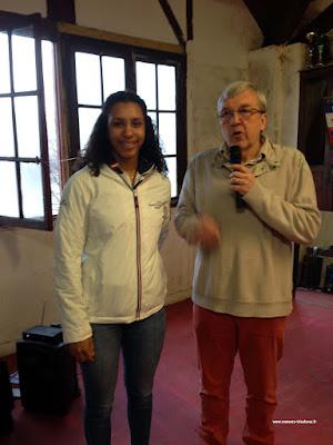 Bourse pour Ramer : Fête de Lucine AHYI (boursière AIA) par la SNHS après ses titres de Championne de France juniore Indoor 2018 (2000 m et 500 m)