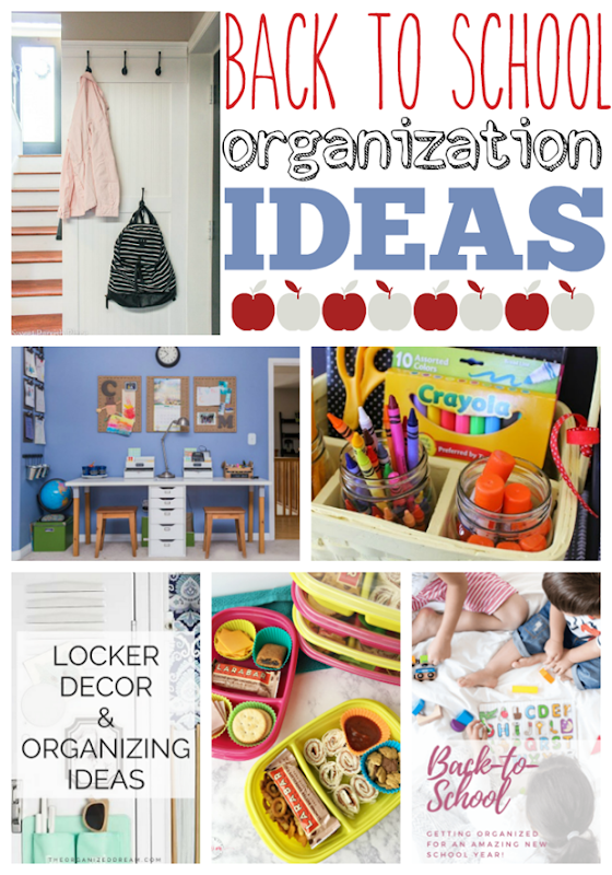 Back to School Organization Ideas at GingerSnapCrafts.com #school #organization #backtoschool