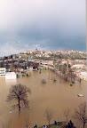 Benátky při povodni