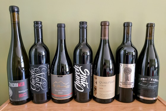 May 2017 BC wine collectibles