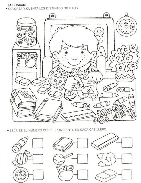 cuaderno de actividades para ni os fichas de actividades con numeros para ni os. Black Bedroom Furniture Sets. Home Design Ideas