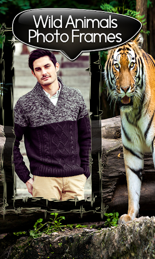 野生動物の写真フレーム