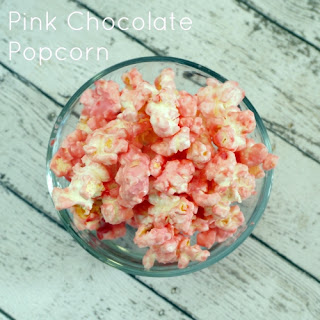 Pink Chocolate & Peppermint Popcorn