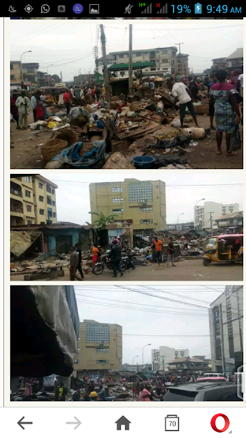 Photos from the ongoing Demolition of Illegal Structures and Shanties in Anambra State.