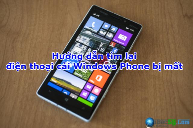 Hướng dẫn tìm lại điện thoại cài Windows Phone bị mất + Hình 1