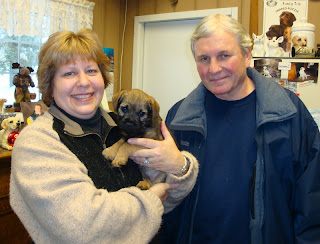 "Chris and Jan WrightThey have 2 Border Terriers from Rushwind""Buck"" and ""Tess"""