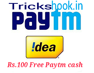 IDEA Super Challenge – Get Rs.100 Free Paytm Cash Loot {working again}