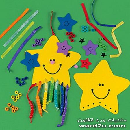فوم ملون اشغال فنية بسيطة للاطفال