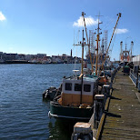 the IJmuiden harbor in Velsen, Noord Holland, Netherlands