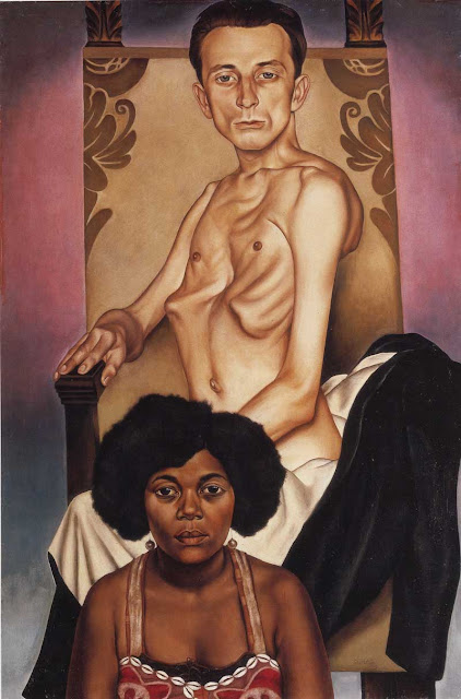 Christian Schad - Agosta the Winged One and Rasha the Black Dove