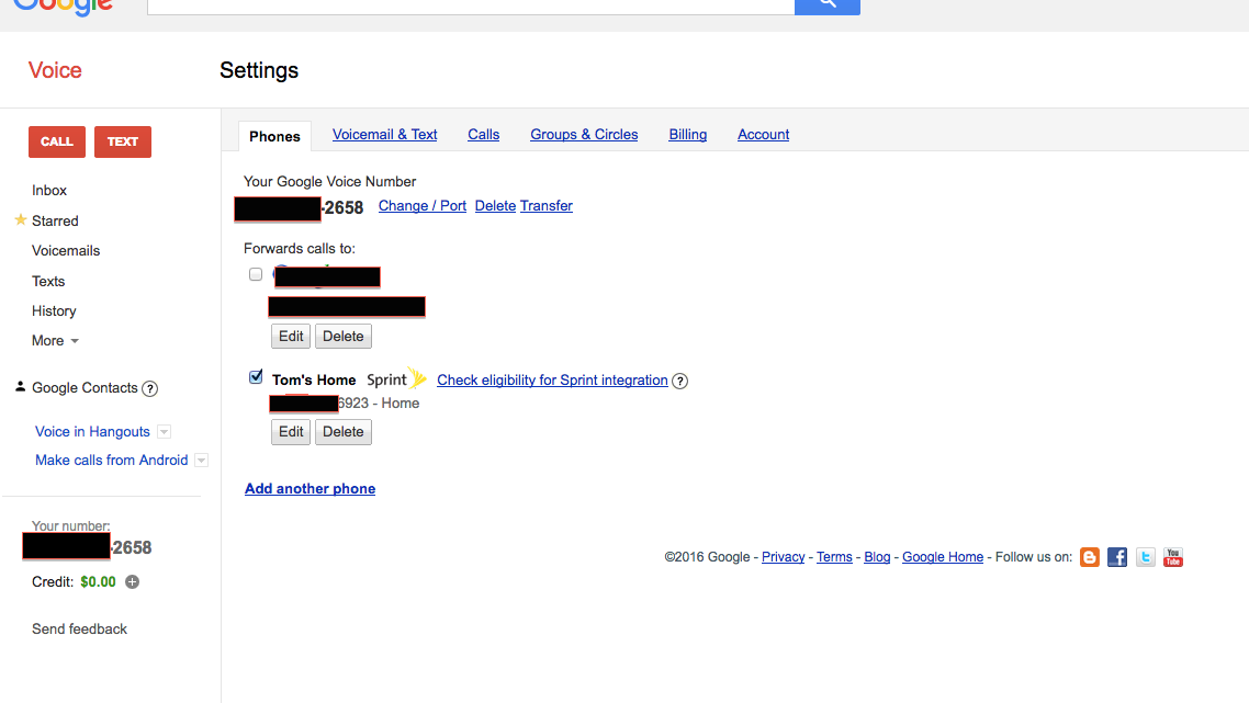 Outbound calling issues - Sprint on iPhone - Google Voice Help