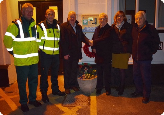 Defibrillator is officially opened  for use - see photo label