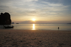 Possibly the best beach in the whole of Thailand. The north end of Prah Nang beach in Railay. Amazing.