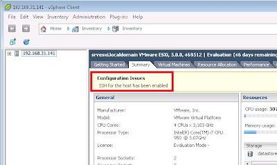 Activar SSH en servidor VMware ESXi mediante VMware vSphere Client