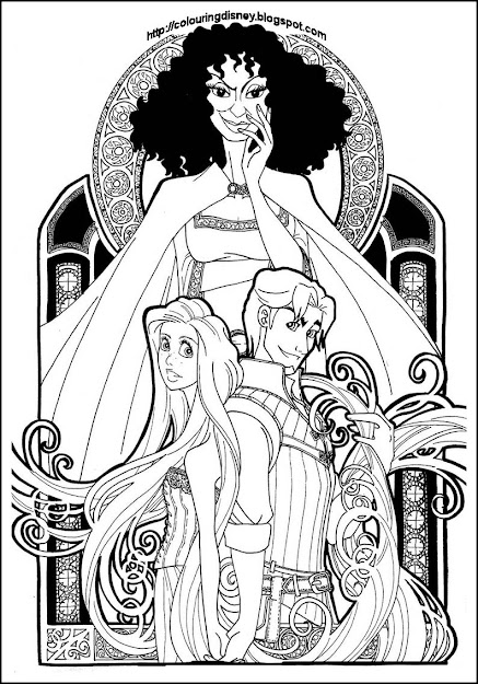 Princess Coloring Pages Disney Rapunzel Coloring Page