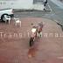 VÍDEO: CAMINHÃO ROMPE FIAÇÃO E MOTOQUEIRO QUASE MORRE