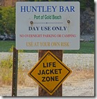 No Camping on Huntley Bar at Huntley Park along Rogue River