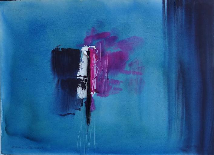 Teresa Jorda Vito,Pintora,Pintura de Teresa Jorda Vito,Pintura a la acuarela Verde Azul