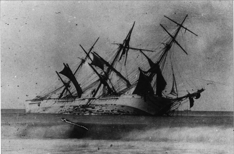 Naufragio de la fragata VILLA DE PALAMOS. Foto Museu Maritim de Barcelona.png