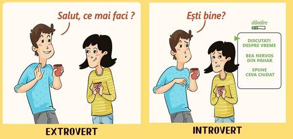 12 ilustrații care arată cum introvertiții și extrovertiții văd lumea