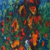 Botanisches, 2001. �l auf Leinwand, 65 x 50,5 cm.Euro 3.500,-