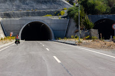 Not crazy, but cycling through an empty tunnel as it is under construction.