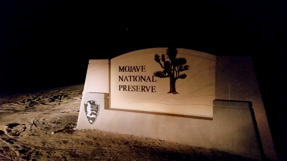 Mojave National Preserve sign outside of Baker