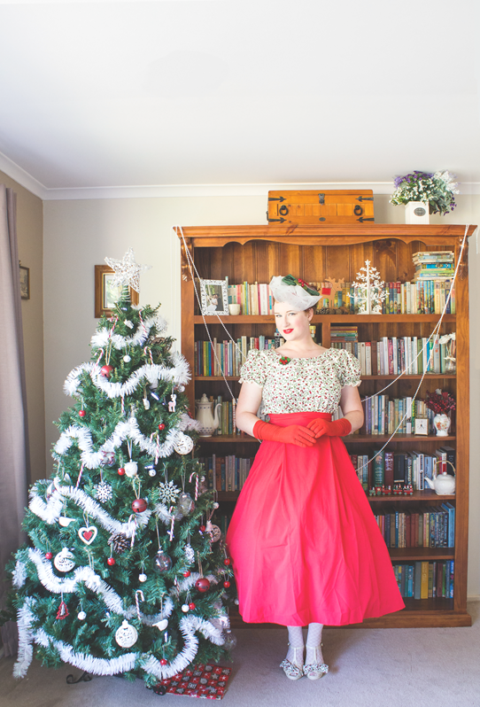 Vintage 1950's Christmas outfit | Lavender & Twill