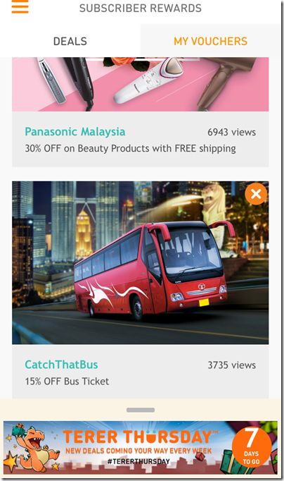 GrabThatBus app X UMobile promo