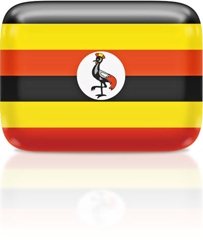 Ugandan flag clipart rectangular