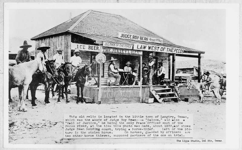 Judge Roy Bean Saloon & Justice Court, Langtry, Val Verde County, TX