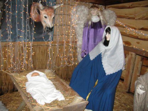 Met het pasgeboren Kind... in de stal.