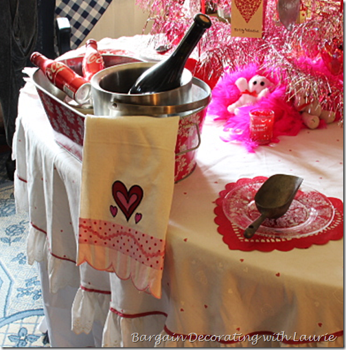 Iced Drinks on Valentine Table