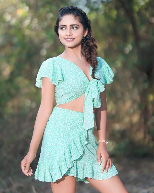 Nisha Guragain in Short dress